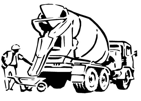 concrete mixer truck coloring pages - photo#31