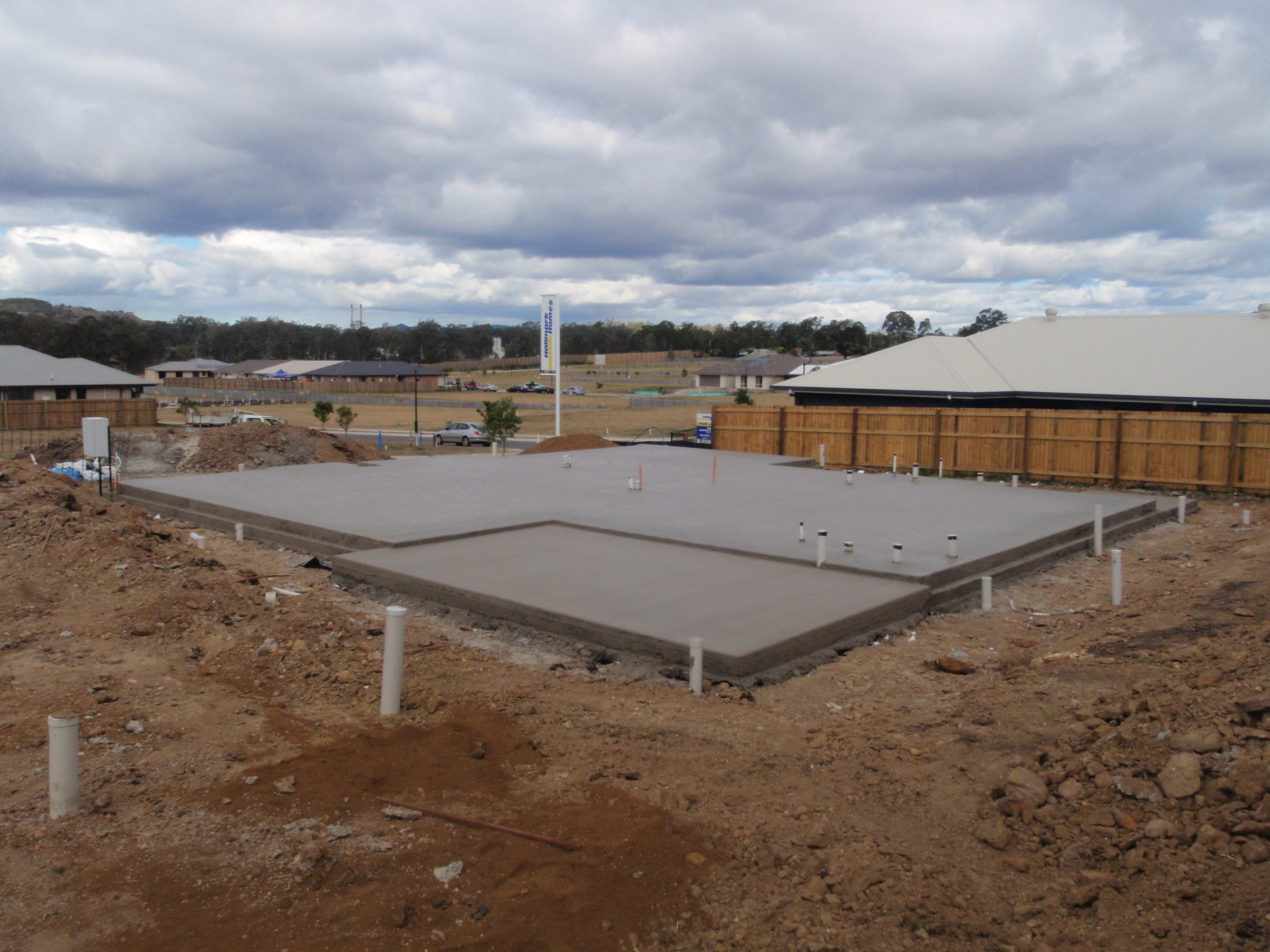 New Concrete House Slab With Step Down Brisbane Concrete